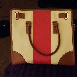 Large Michael Kors canvas handbag